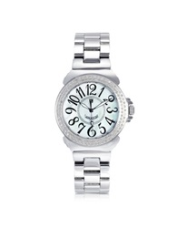 Lancaster Pillola Bracelet Women's Watch W Diamonds Silver