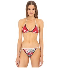 M Missoni Boot Print Swim String Two Piece Swimsuit Red