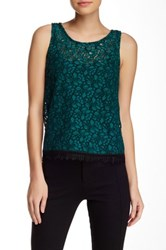 Weston Wear Looking Glass Lace Tank Green