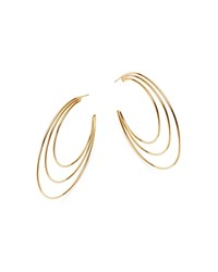 Moon And Meadow 14K Yellow Gold Polished Triple Open Hoop Earrings 100 Exclusive