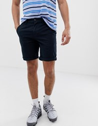 New Look Slim Fit Chino Shorts In Navy