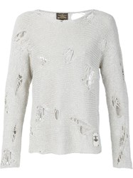 Vivienne Westwood Anglomania Destroyed Sweater Grey