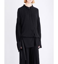 Ann Demeulemeester Chastain Cotton Top Black