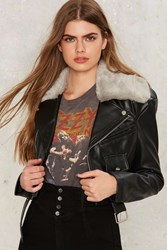 Ride It Out Vegan Leather Moto Jacket Black