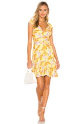 Free People Key To Your Heart Mini Dress Yellow