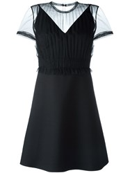 Valentino Lightly Laced Dress Black