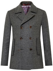 Ted Baker Biza Wool Blend Peacoat Charcoal