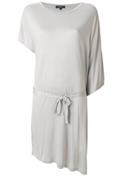 Unconditional Asymmetric Belted Dress Grey