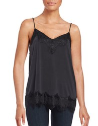 Ella Moss Lace Trimmed Camisole Black