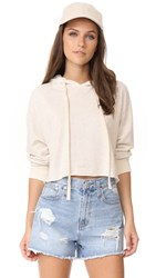 Monrow Oversized Cropped Hoodie Ash
