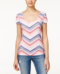 Energie Juniors' Lucia Printed Back Cutout T Shirt Ombre Chevron