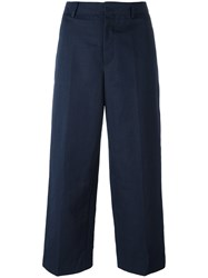 Incotex Straight Cropped Trousers Blue