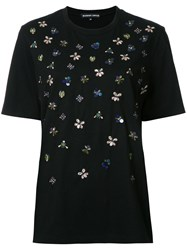Markus Lupfer Embroidered T Shirt Black