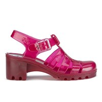 Juju Women's Babe Heeled Jelly Sandals Garnet Pink