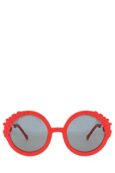 Preen Eyewear Bouquet Rubber Sunglasses Red