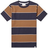 Norse Projects Johannes 3 Stripe Tee Brown