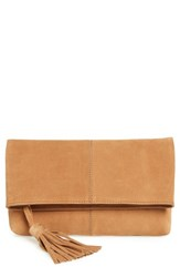 Leith Suede Clutch Brown Cognac