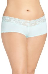 Cosabella Plus Size Women's 'Never Say Never' Low Rise Boyshorts Tropical Water
