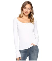 Lamade Kelly Top White Women's Long Sleeve Pullover