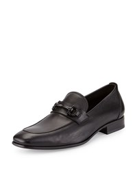 Salvatore Ferragamo Livingston Leather Gancini Loafer Nero Men's