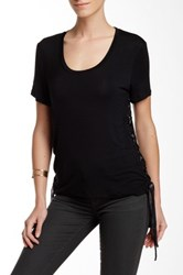 Fate Side Lace Up Tee Black