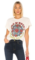 Madeworn Guns N Roses Use Your Illusion Tee In Cream. Dirty White