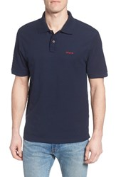 Patagonia Men's Belwe Relaxed Fit Pique Polo Navy Blue