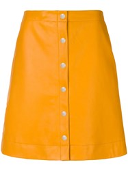 Paul Smith Ps By Button Down A Line Skirt Yellow And Orange