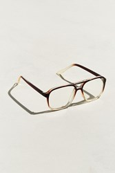 Urban Outfitters Uo Gradient Frame Plastic Readers Brown Multi