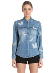 Valentino Butterfly Embroidery Denim Jacket