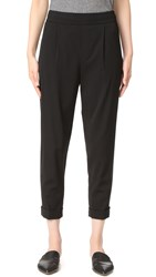 Vince Pull On Tapered Trousers Black