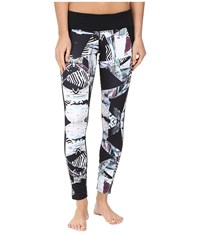 Hot Chillys Mtf Flex Sublimated Print Tights Live Wire Black Women's Casual Pants