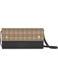 Burberry Small Scale Check Wallet With Detachable Strap Yellow And Orange
