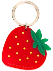 Charlotte Olympia Strawberry Keyring Red
