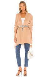 Michael Stars Bliss Doubled Knit Ruana In Tan. Gingersnap