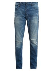 Neuw Denim Ray Distressed Tapered Leg Jeans Blue