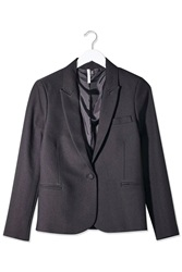 Textured Fitted Blazer By Boutique Black
