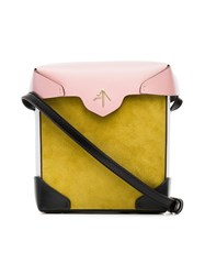 Manu Atelier Yellow And Bubblegum Mini Pristine Suede And Leather Unavailable