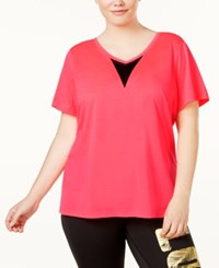 Material Girl Active Plus Size Open Back V Neck Top Only At Macy's Flashmode