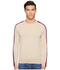 Marc Jacobs Contrast Stripe Sweater Incense Men's Sweater Neutral