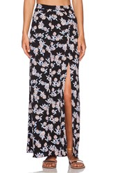 Wayf Slit Maxi Skirt Black