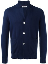 Brunello Cucinelli Button Up Cardigan Blue