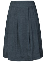 Seasalt Wheal Remfry Denim Skirt Dark Indigo