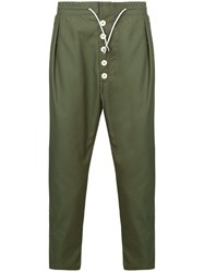Sunnei Relaxed Fit Trousers Green