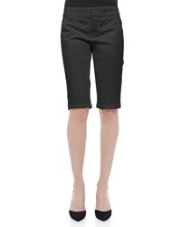 Vince Side Buckle Bermuda Shorts White Black