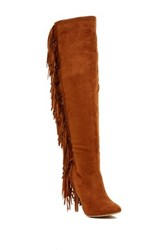 Nature Breeze High Point Fringe Tall Boot Brown