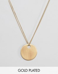 Pilgrim Gold Plated Disc Necklace