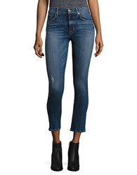 Hudson Jeans Ciara Distressed Button Fly Super Skinny