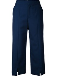 Le Ciel Bleu Straight Cropped Pants Blue
