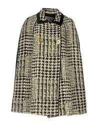 Fausto Puglisi Coats And Jackets Capes And Ponchos Ivory